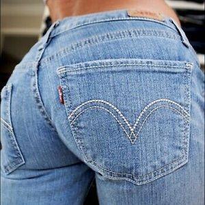 Levi's 524 Too Superlow Rise Light Skinny Jeans